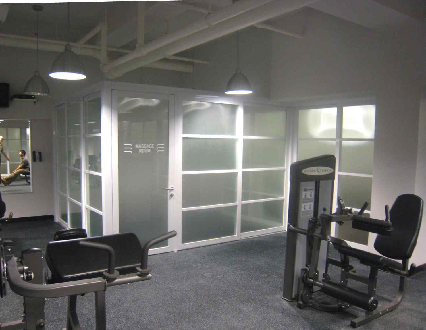 4 privacy partitions Gym 1