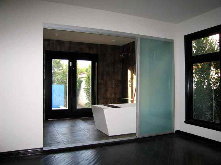 Lifestyle with sliding glass door