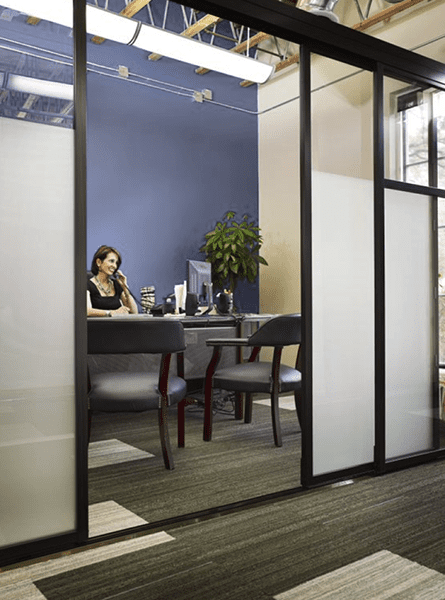 commercial office sliding door space dividers