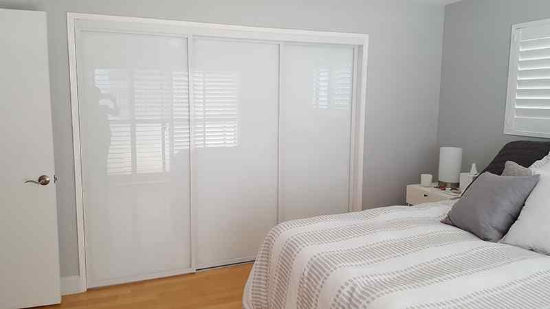 closet door Deluxe white frame residential master guest room
