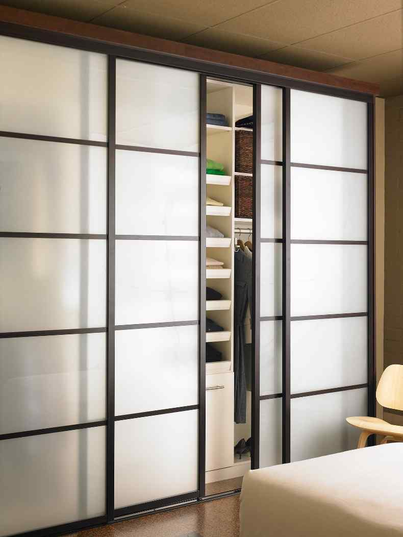 closet doors with divider strips residential