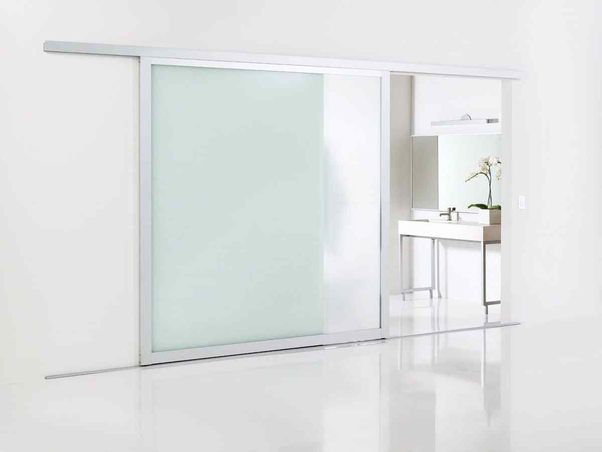 Sliding glass door room divider