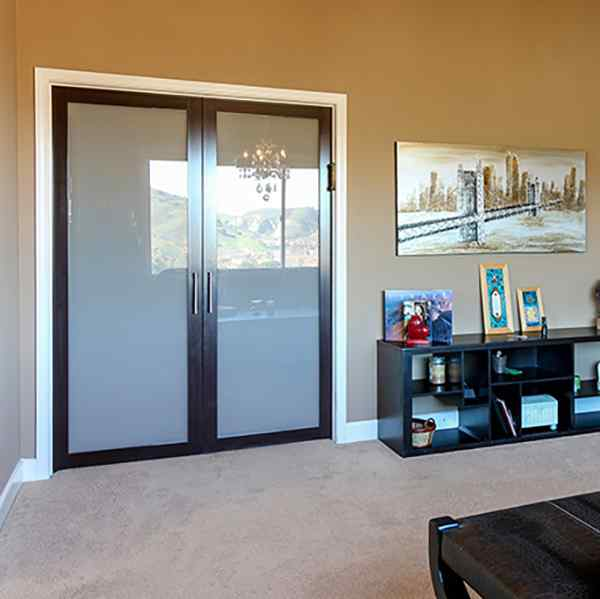 double swing french doors wenge frame residential