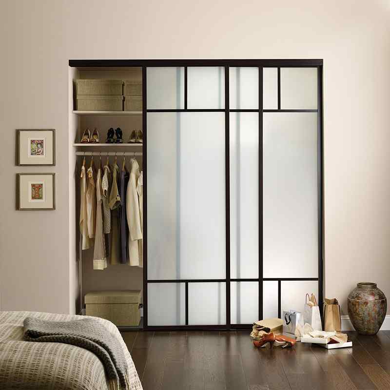 high quality frosted glass custom closet doors