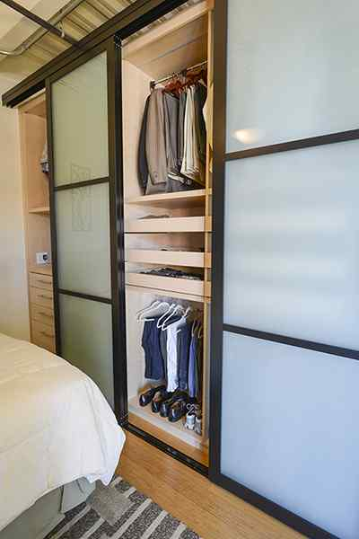 loft bedroom closet doors storage