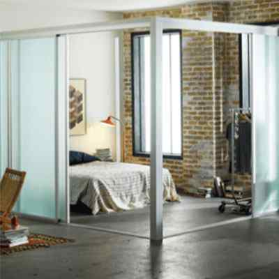 L shape room divider