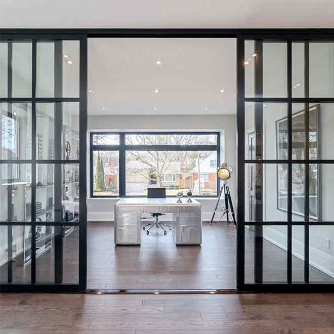 studio sliding door space divider