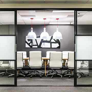 meeting room sliding door divider