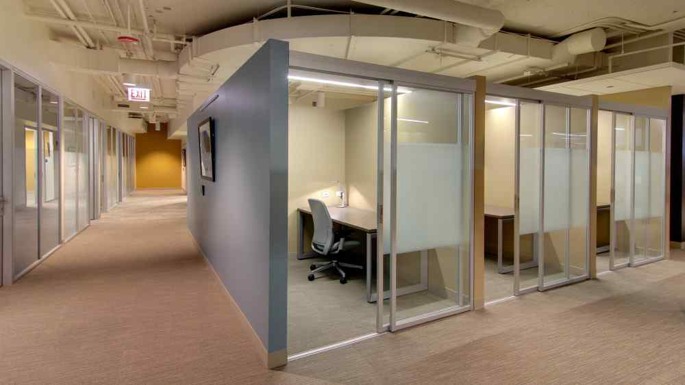 office cubicles wall separated qubiglass