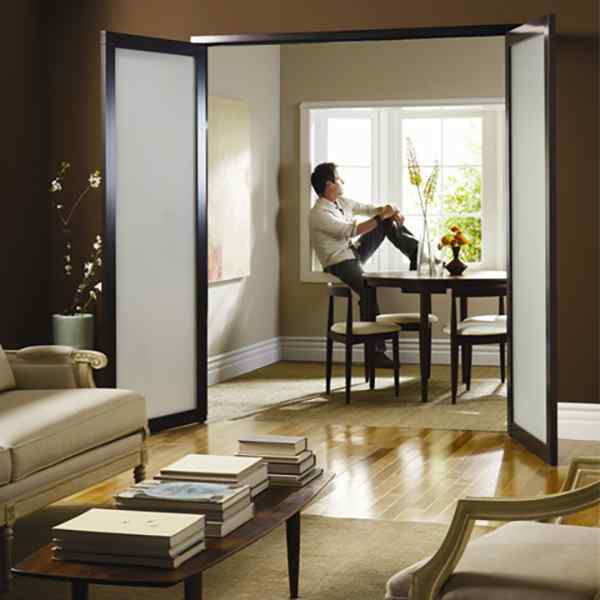 open double swing doors french residential