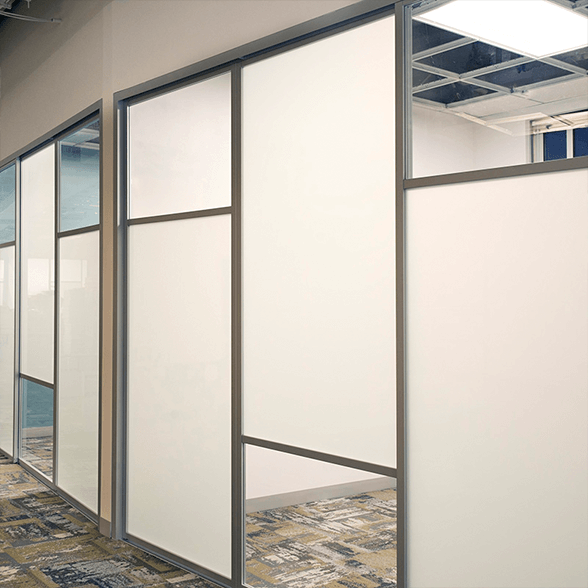 office space glass dividers