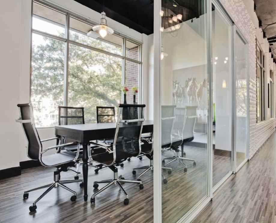 small conference room glass sliding doors