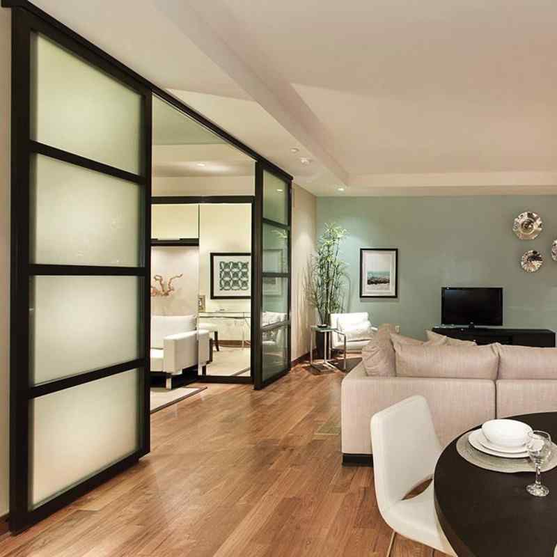suspended doors hotel living room den wall slide suspended glass door room divider