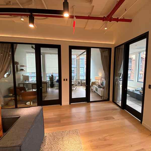swing doors office rooms commercial space