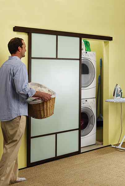 wall slide laundry room sliding glass door